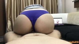 Step Brother Fuck Me While I Watching Porn – He Cum Inside Me – Creampie