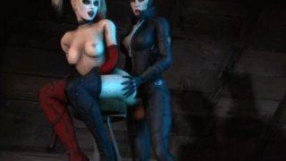 Catwoman Fucks Harley Quinn (Harley Quinn Hentai)