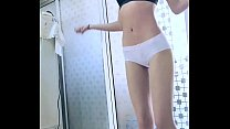 The slim Asian girl danced naked and was very good.2