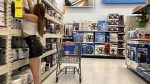 A Real Freak Recording a Hot chick at Walmart –
