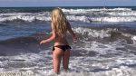 German Hot Blonde Beach Girl