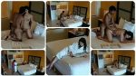 hidden camera films young girl getting m. and being f. to have sex with an intruder in a hotel room