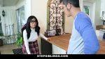 StepSiblings – Nerdy Teen (Monica Asis) Rides Stepbros Cock